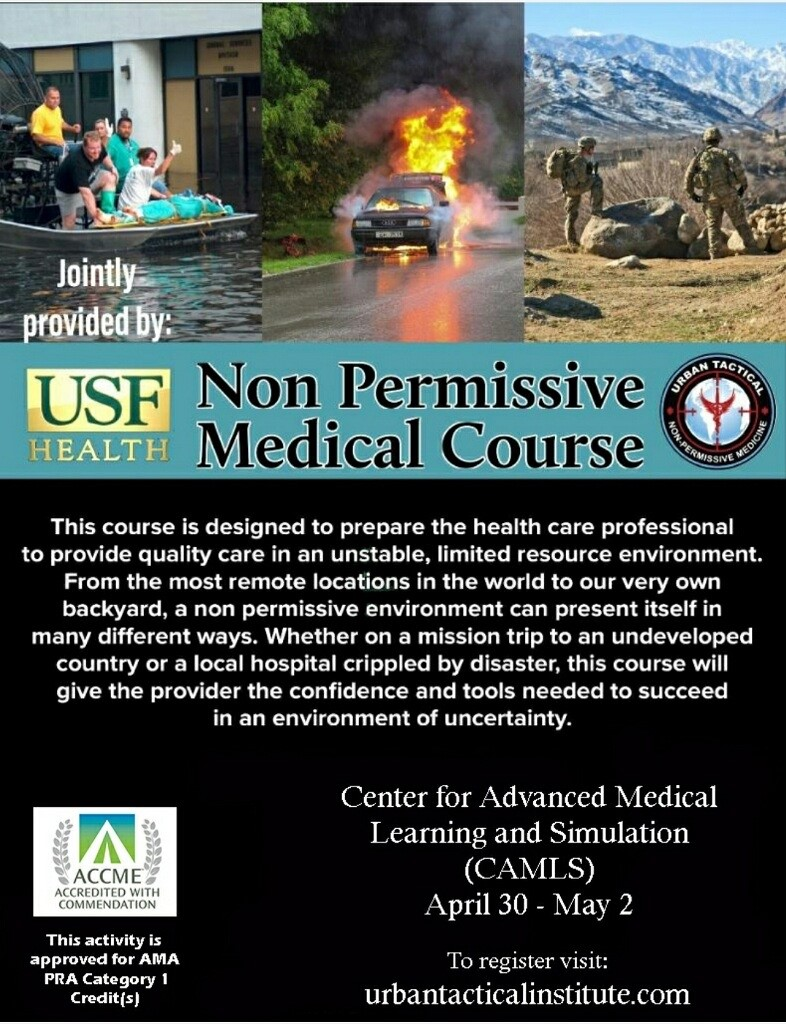 Non Permissive Medical Course Flyer