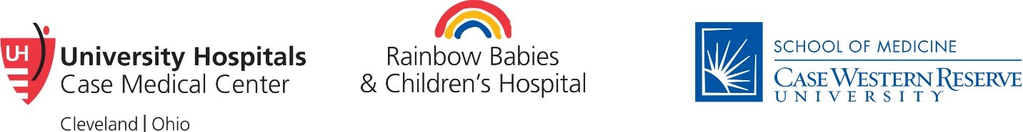 University Hospitals Rainbow Babies & Children's Hospital and Case Western Reserve University School of Medicine